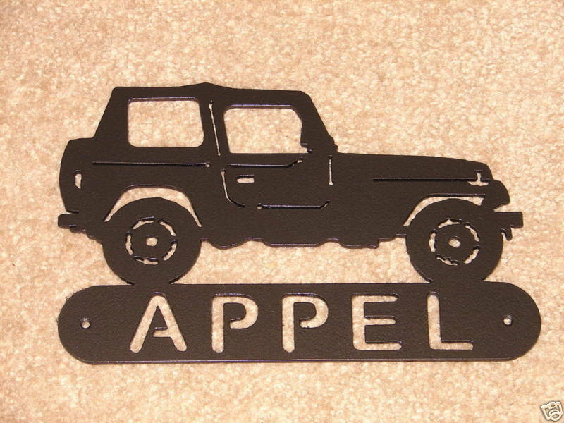 Jeep 4x4 metal home address sign art wall decor house ebay for Location plaque garage
