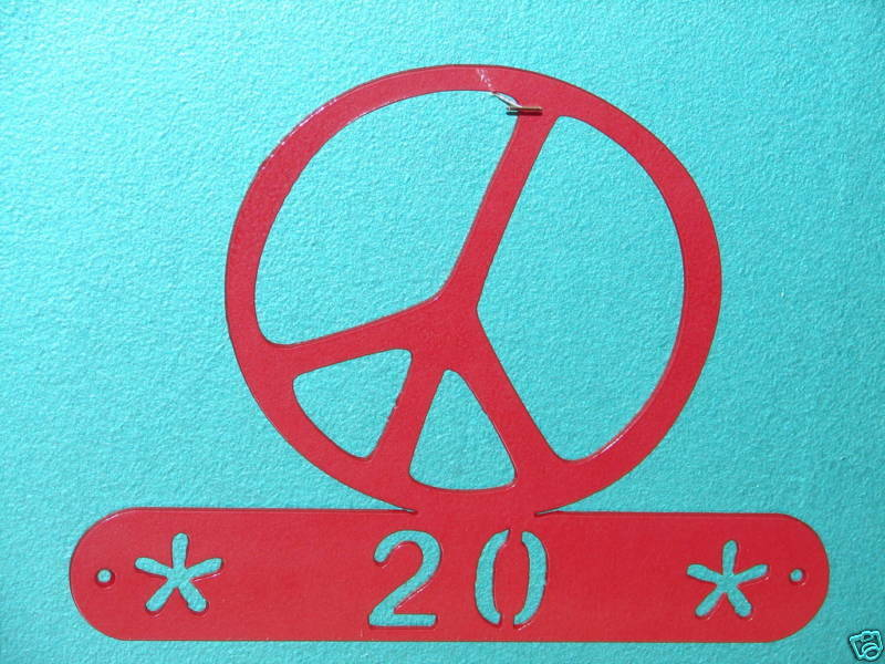 Peace Sign Metal Home Address Wall Decor House Plaque Ebay