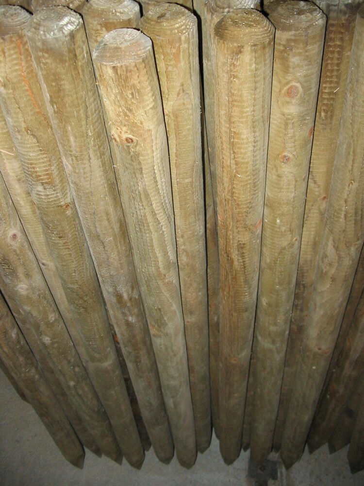 6 X 4ft Round Wooden Tree Stakes Supports Fence Posts Ebay
