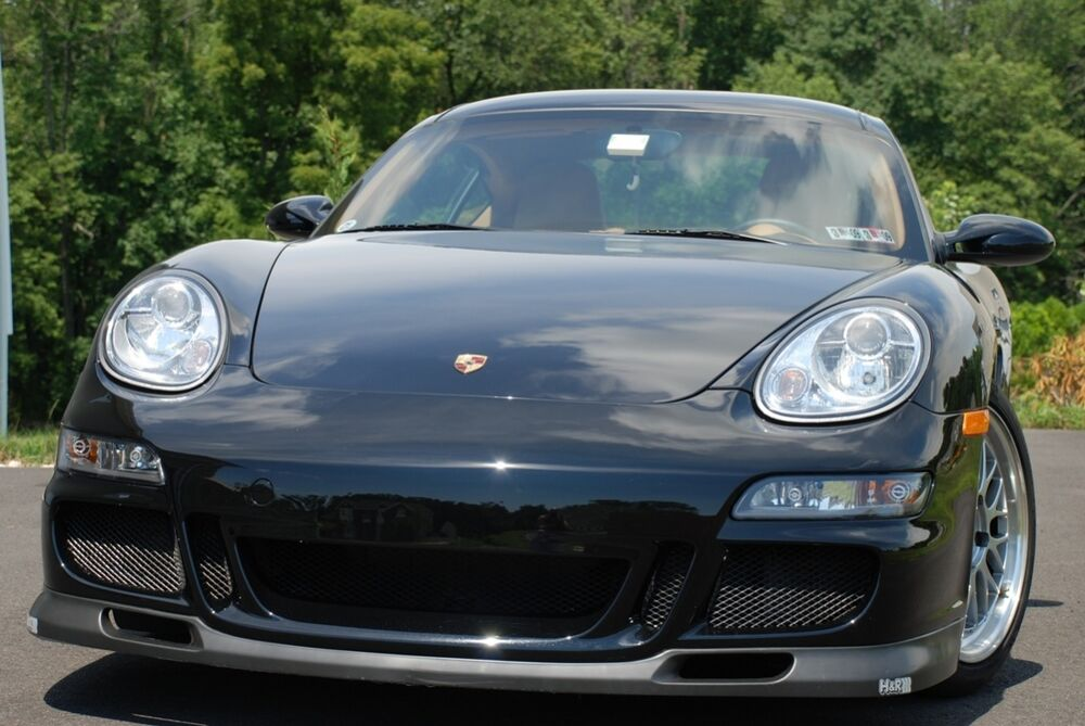 porsche 987 boxster cayman to 997 gt3 style front bumper new ebay. Black Bedroom Furniture Sets. Home Design Ideas