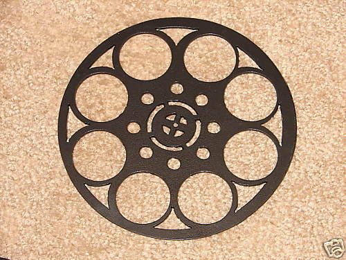 home theater metal wall art decor movie film reel ebay. Black Bedroom Furniture Sets. Home Design Ideas