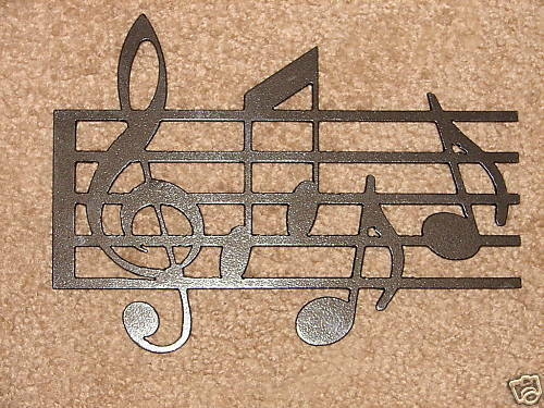 Metal Wall Art Home Decor Music Notes Musical Note Ebay