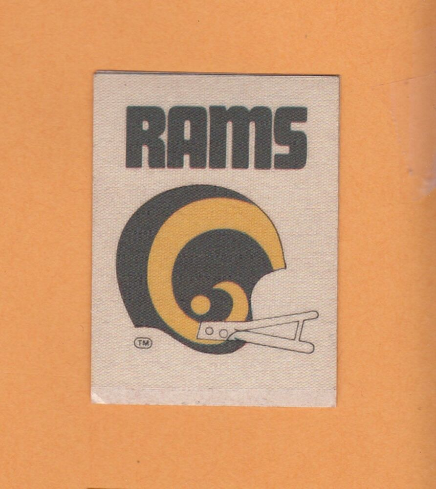 Old 1972 Decal Patch L A Los Angeles Rams 2 Bar Helmet