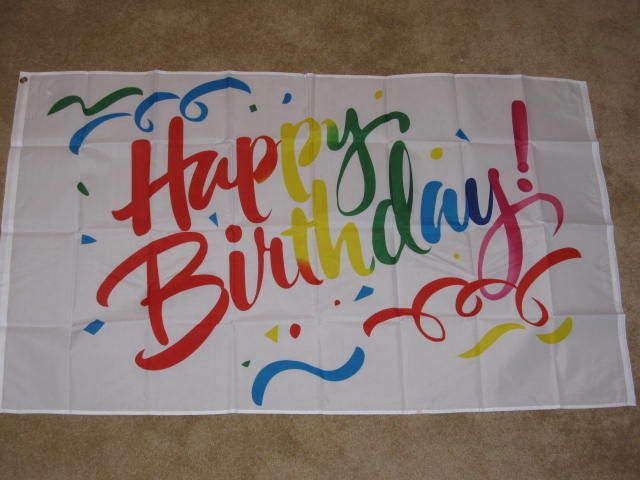 3X5 HAPPY BIRTHDAY FLAG PARTY CELEBRATE BANNER NEW F047