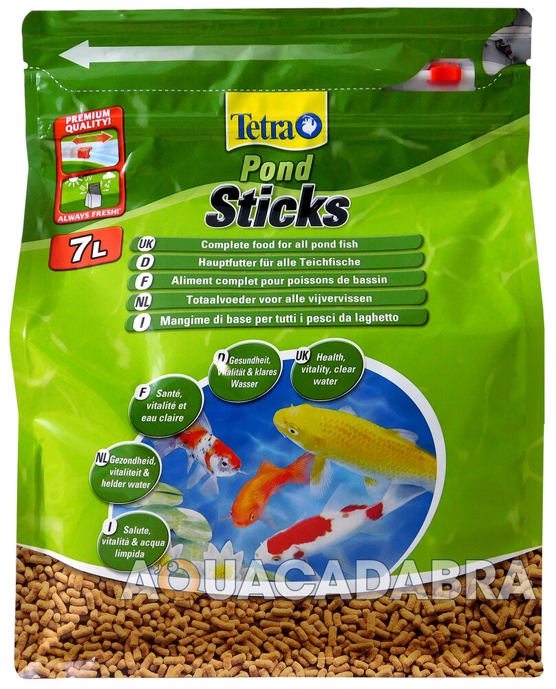 Tetrapond tetra pond floating food sticks 780g 7l fish for Fish food for pond fish