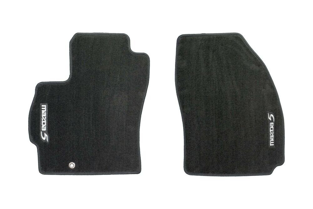 2006 2010 mazda 5 floor mats carpet front black set of 2. Black Bedroom Furniture Sets. Home Design Ideas