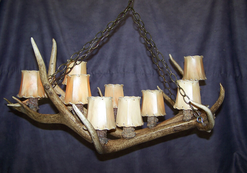 Montana Real Antler Elk Chandelier Lamps By Cdn Ebay