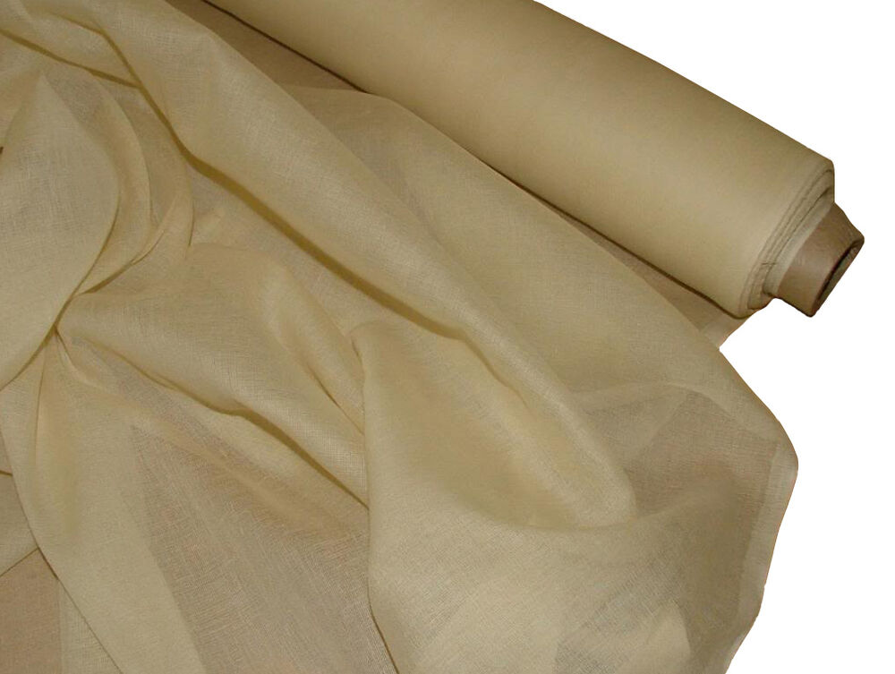 French 100 Cotton Muslin Sheer Voile Fabric Curtain Ebay