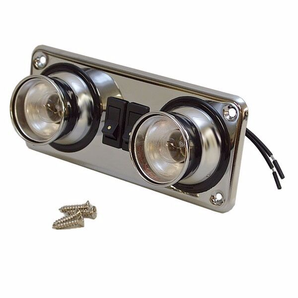 12 Volt Marine Lights: Flush Mount Dual Control 12 Volt Boat Cabin Light