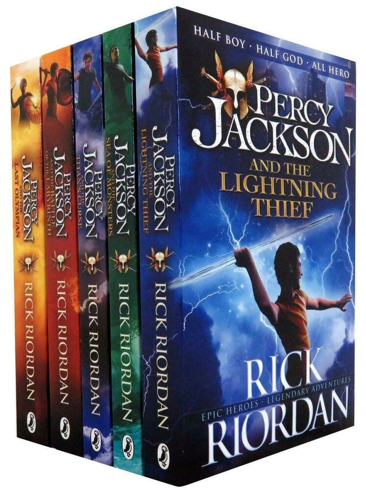Percy Jackson & the Olympians 5 Children Book Collection Set Series ...