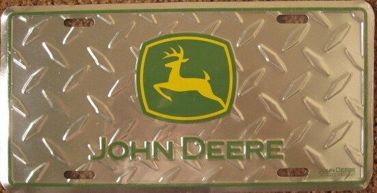 John Deere Plates : John deere metal license plate diamond tag sign l ebay
