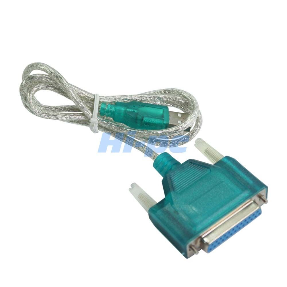 Usb To Printer Db25 25 Pin Parallel Port Cable Adapter Ebay
