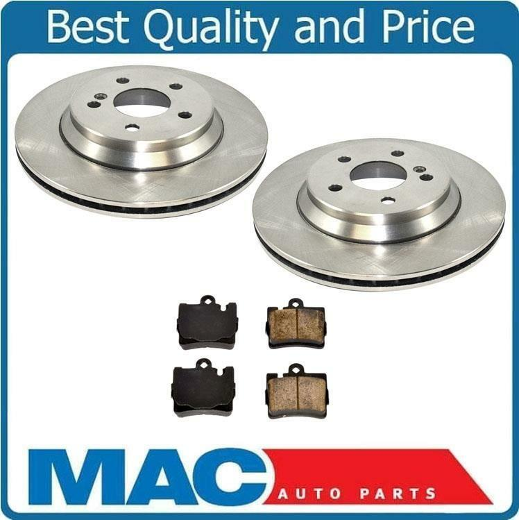 2001 2002 mercedes s430 s500 2 rear brake rotors for Mercedes benz rotors and pads