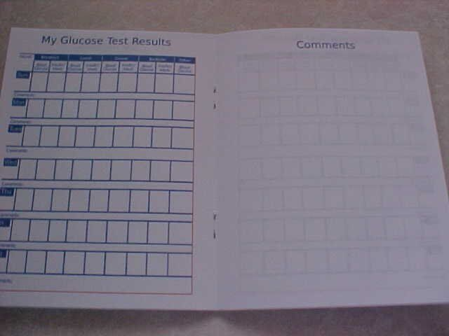 diabetic log blood sugar log book glucose monitoring ebay