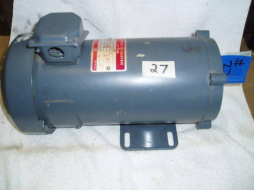 Ge industrial electric motor dc180v 1ph 3 4hp 1725rpm ebay for Used industrial electric motors