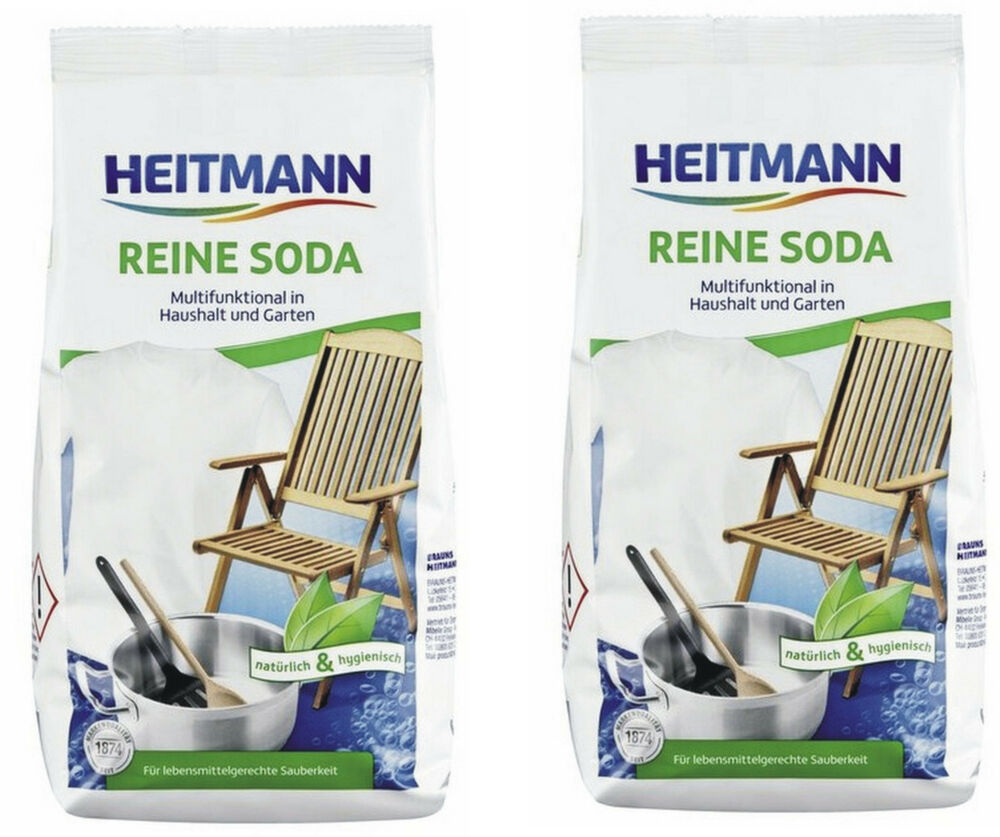 2 99 kg 2x 500g heitmann reine soda kalzinierte soda. Black Bedroom Furniture Sets. Home Design Ideas