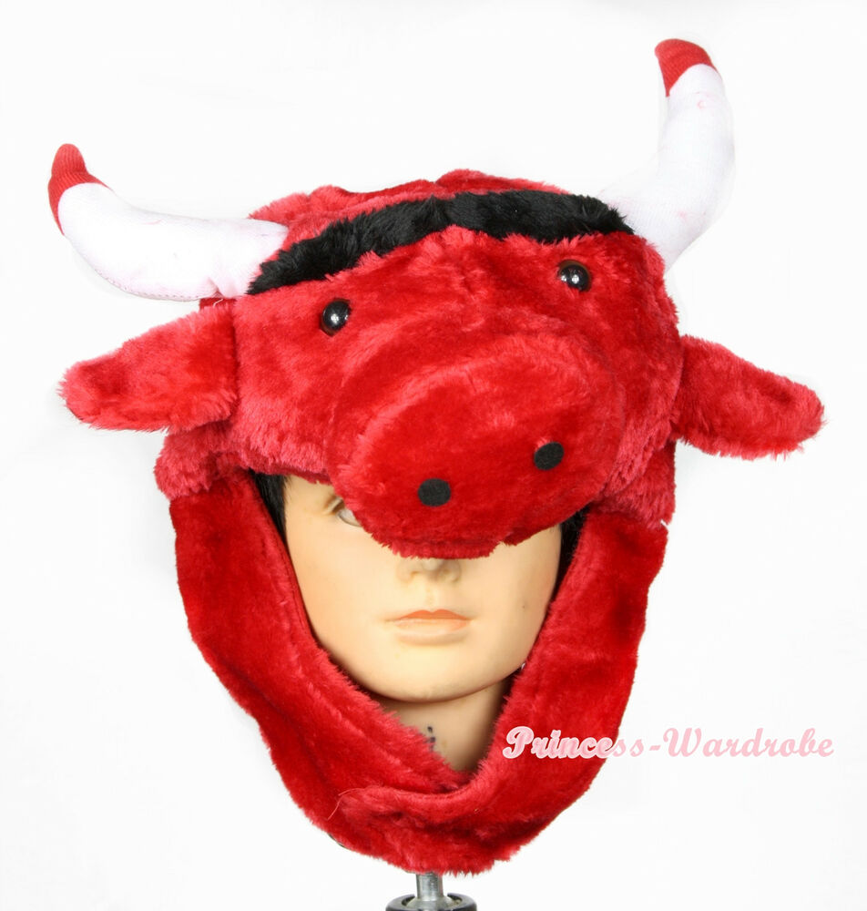 red webuffalo bull cow ox cattle costume hat mask h68 ebay. Black Bedroom Furniture Sets. Home Design Ideas