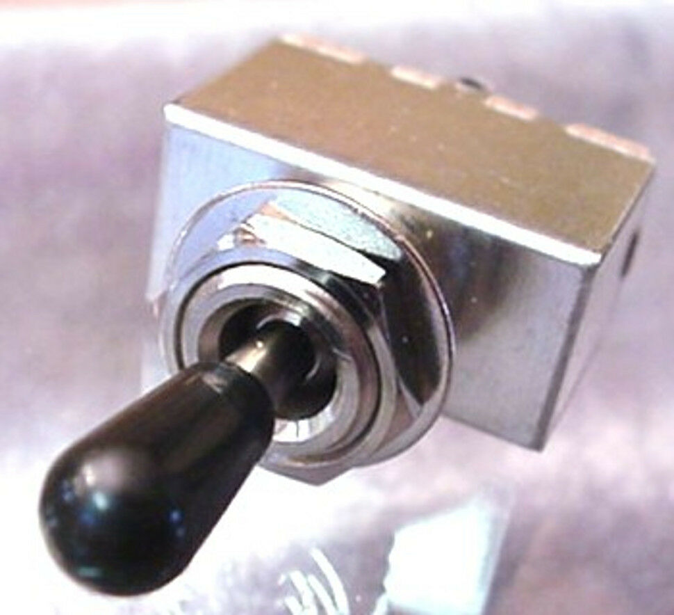 box 3 way toggle switch electric guitar black nickel ebay. Black Bedroom Furniture Sets. Home Design Ideas