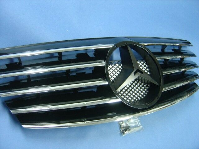 Black Front Grille Assembly For 2000 2002 Mercedes Benz