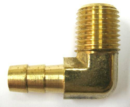 Pc elbow brass barb fitting quot hose npt fuel