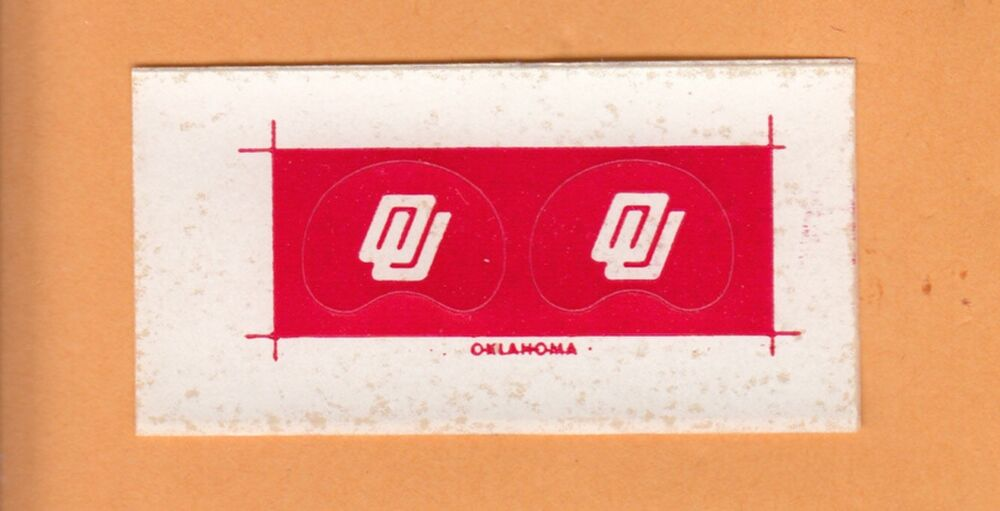 1970s oklahoma sooners gumball football helmet decals ebay for Telephone mural 1970
