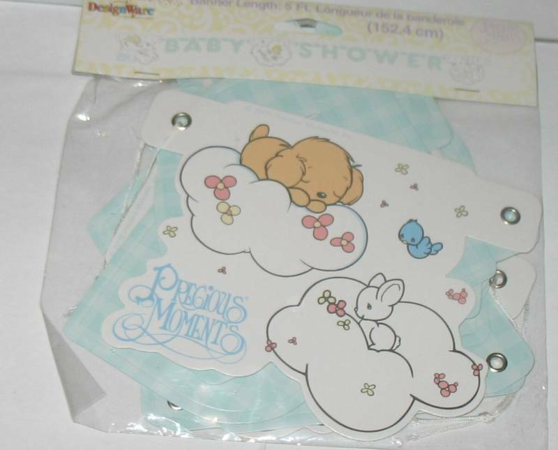 new precious moments baby shower decorations banner 5ft ebay