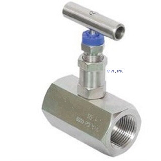 Needle Valve 1  2 U0026quot  Female Npt 6000 Psi Stainless  Delrin
