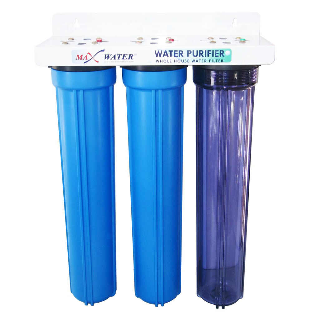 Max Water 3 Stage 20 Quot Whole House Water Filter Gac Cto Ebay
