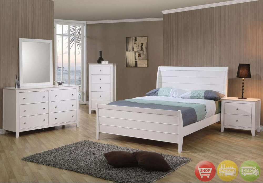 twin white wooden bed kids bedroom furniture 4 pc set ebay