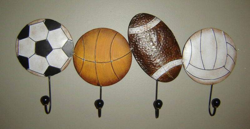 Sports Metal Wall Decor Football Soccer Basketball New Ebay