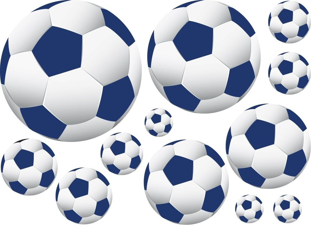 36 Soccer Ball Wall Decor Art Stickers Decals Navy Blue Ebay