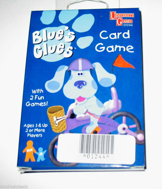 NEW BLUES CLUES CARD GAME SET - PLAY 2 GAMES! | eBay