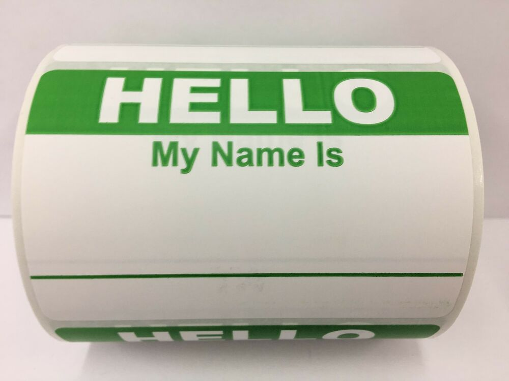 "My Name Is Name: 250 Labels 3.5""x 2.375"" RED Hello My Name Is Badge Tag"