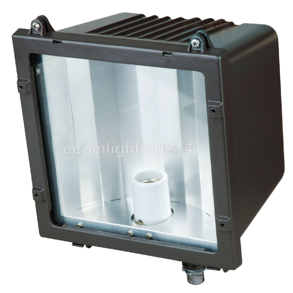175 watt metal halide pulse start flood light fixture ul listed ebay. Black Bedroom Furniture Sets. Home Design Ideas