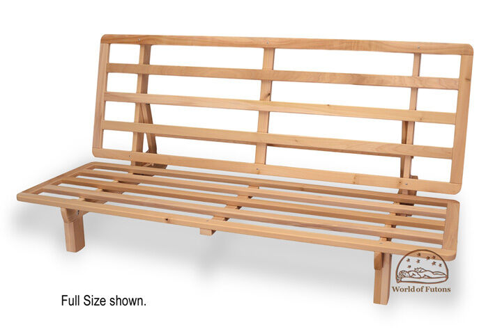 Futon frame solid wood new bi fold futon sofa bed frame for Wooden frame futon sofa bed