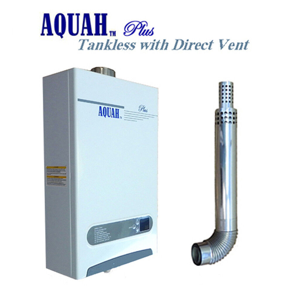 Aquah 10l 2 7 gpm direct vent natural gas tankless gas Natural gas water heater