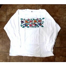 Guatemalan White and Black Shirts, Hand-Embroidered