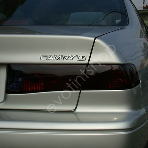 00 01 camry smoke tail light tint cover black out film ebay. Black Bedroom Furniture Sets. Home Design Ideas