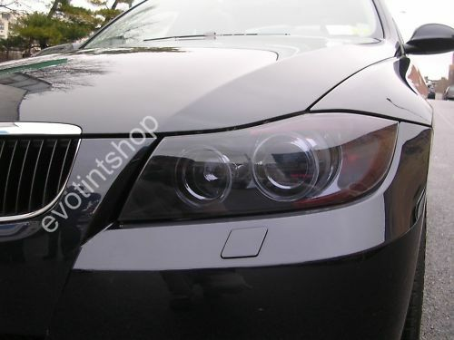 06 10 E90 4dr Smoke Headlight Tint Cover Black Out Film Ebay