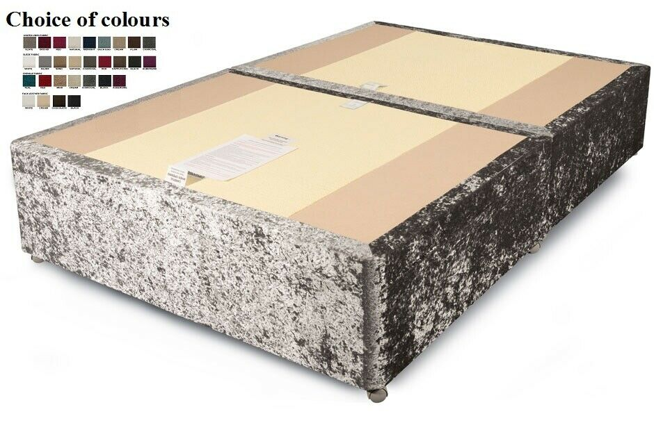Divan sprung edge top bed base only devan storeage drawers for Divan mattress base