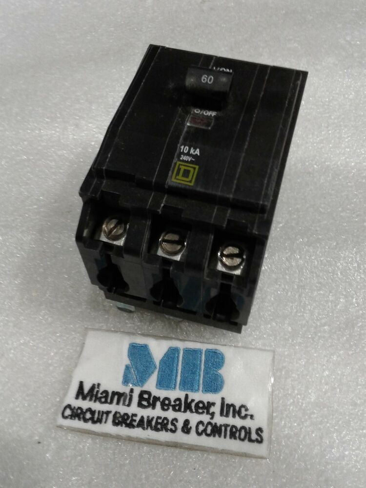 60a circuit breaker wiring diagram rv dc volt circuit breaker wiring diagram your trailer square d qob360 circuit breaker 60a new | ebay