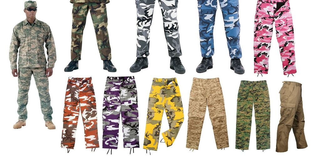Details about Military BDU Pants - Army Cargo Fatigue Camouflage Camo 2225e0d1fd4