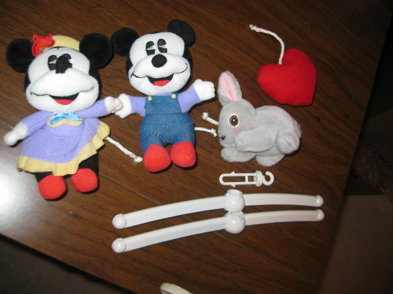 Replacement crib top mobile hanging mickey mouse minnie ebay - Minnie mouse mobel ...