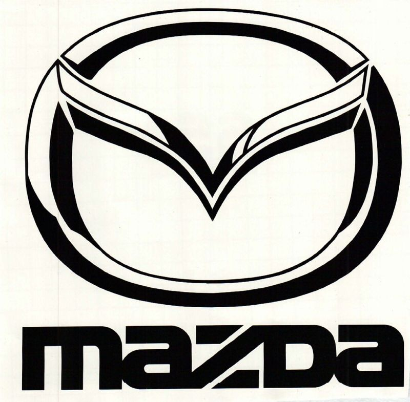 window car vehicle mazda logo vinyl decal sticker ebay rh ebay com mazda logon mazda logo black