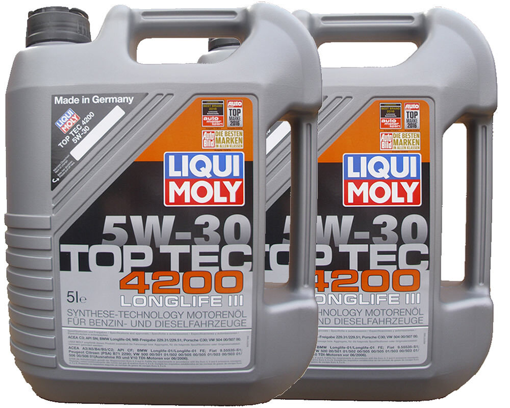 2x5l 10 liter liqui moly top tec 4200 5w 30 motor l 5w30. Black Bedroom Furniture Sets. Home Design Ideas