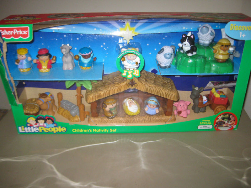 Fisher Price Little People Childrens Nativity Set Manger Jesus Shepherd wise men | eBay