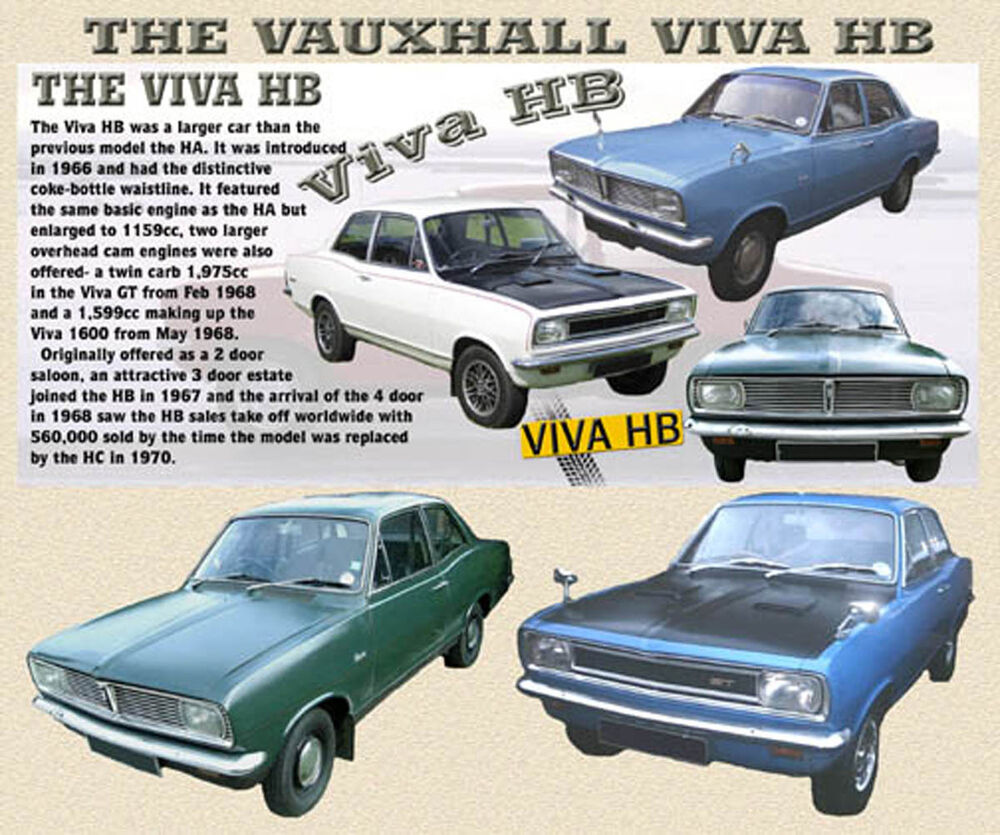 VAUXHALL VIVA HB CLASSIC CAR MOUSE MAT LIMITED EDITION