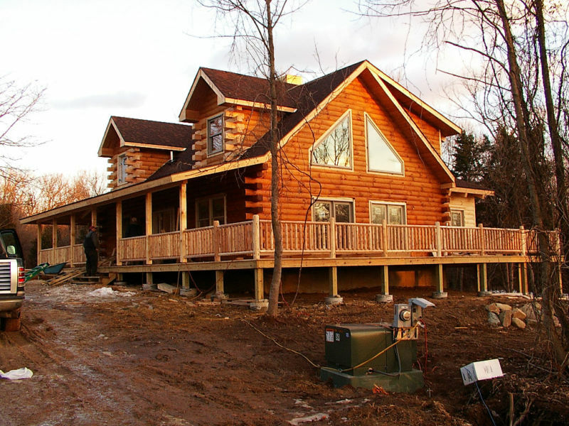 The fort miami log cabin home kit ebay for 5 structural types of log homes