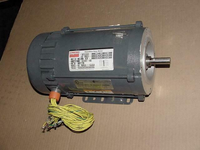 Dayton 1 1 2 hp hazardous duty 3 phase motor 208 230 460v for 2 hp electric motor single phase