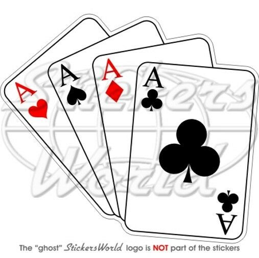 Four Aces Casino Playing Cards Poker Ace Bumper Sticker Ebay
